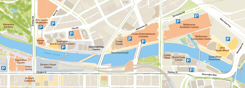 Parking — Yarra River Melbourne Australia on niger river australia map, athens metro map, narmada river map, trail map, snowy river australia map, derwent river australia map,